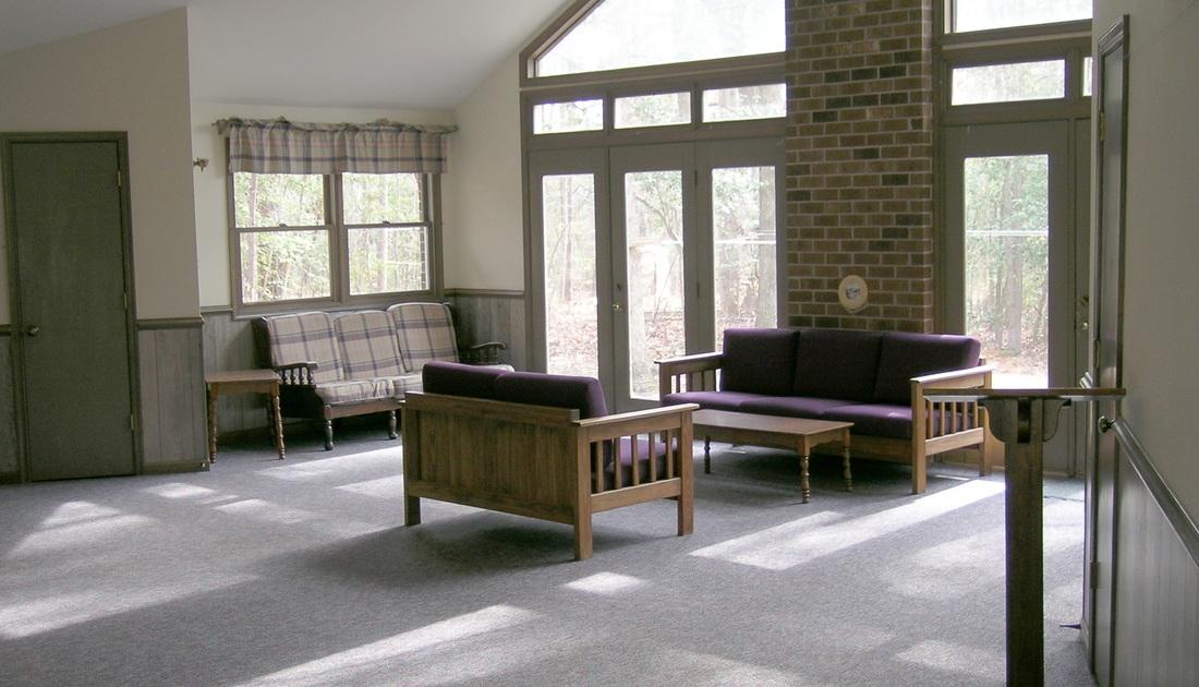 Living Room Inside Laurel Cottage in Williamsburg, VA