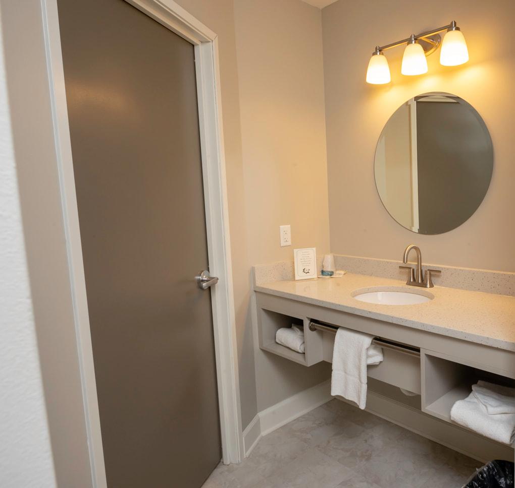 Bathroom Inside Lodge in Williamsburg, VA