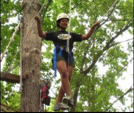 outdoor challenge course in Williamsburg, VA