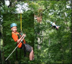 Outdoor ropes course in Williamsburg, VA