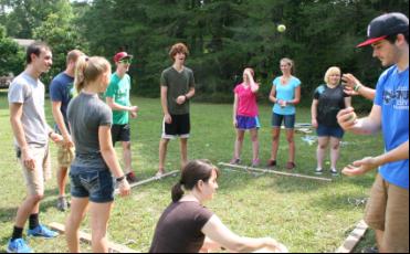 Outdoor team building games in Williamsburg, VA